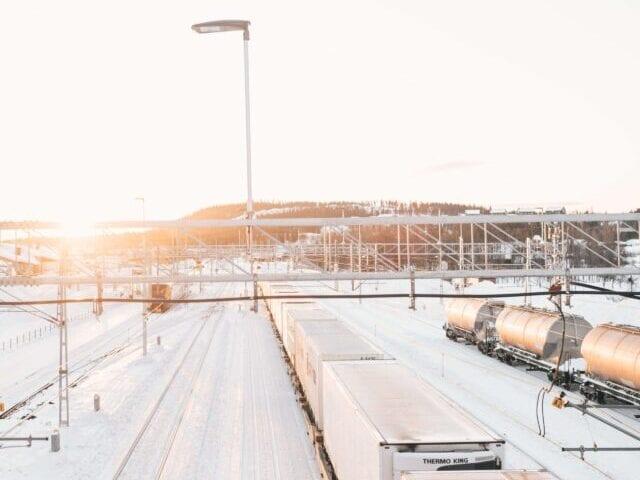 Togstation i Lapland