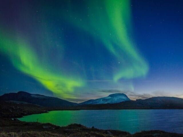 Nordlys over nationalparken