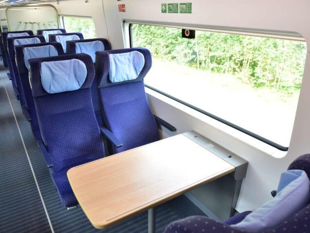 Moderne siddepladser i ICE toget