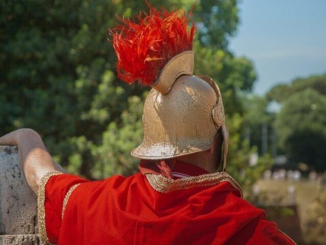 Traditionel romersk soldat