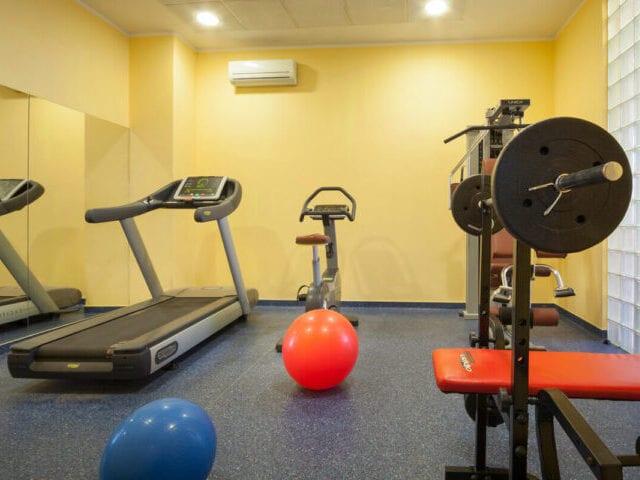 Der er adgang til hotellets træningsrum