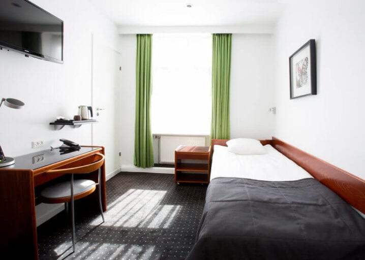 Her ses det dejlige enkeltværelse