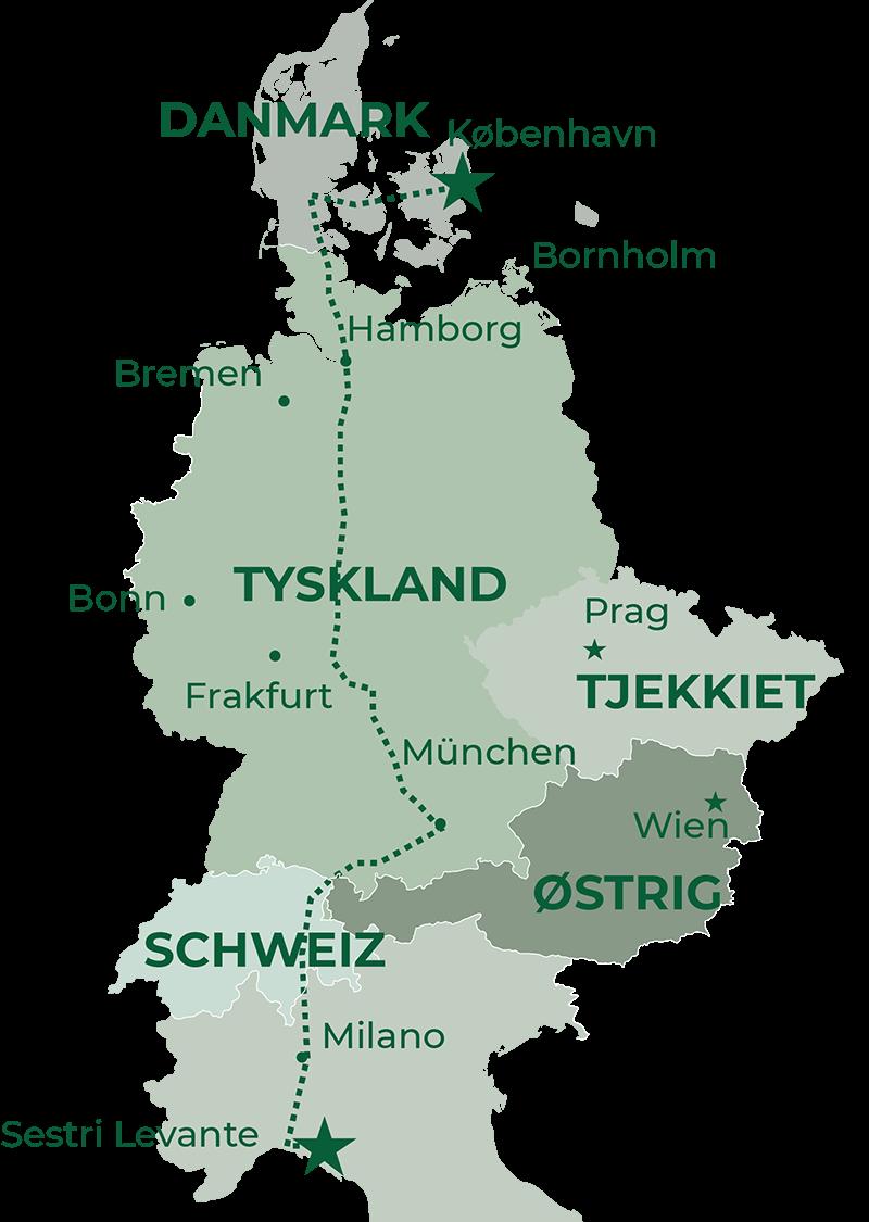 GrønRejs-cinque-terre-rute